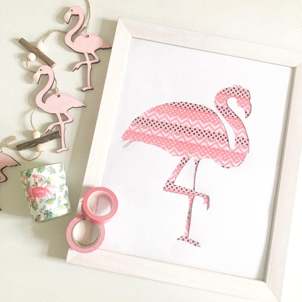 Flamingo DIY | Sommerdeko | Sommer DIY | Freebie | DIY | Sommer | Flamingo | Bild selbermachen