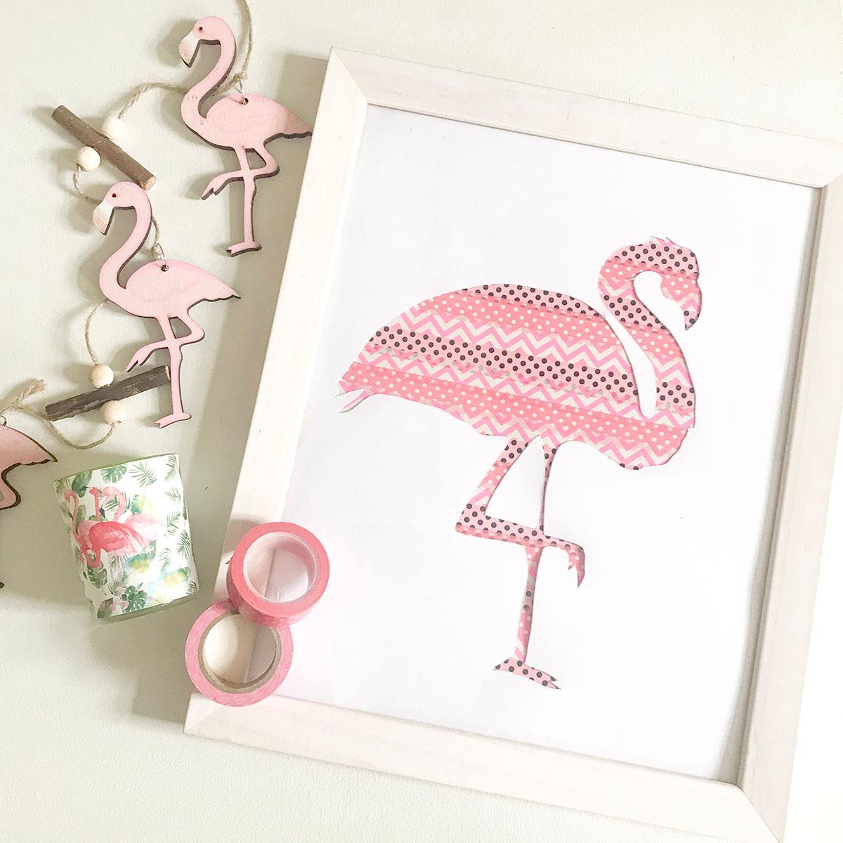 Flamingo DIY | Sommerdeko | Sommer DIY | DIY | Sommer | Flamingo | Bild selbermachen