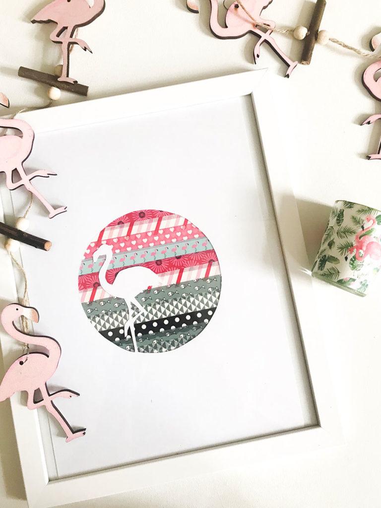 Flamingo DIY | Sommerdeko | Freebie | Sommer DIY | DIY | Sommer | Flamingo | Bild selbermachen