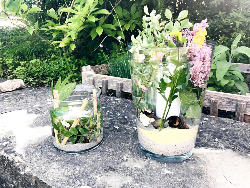 Sommer DIY | günstiges und einfaches DIY | Deko für jeden Anlass | Tischdeko | Windlicht | Vasen Windlicht