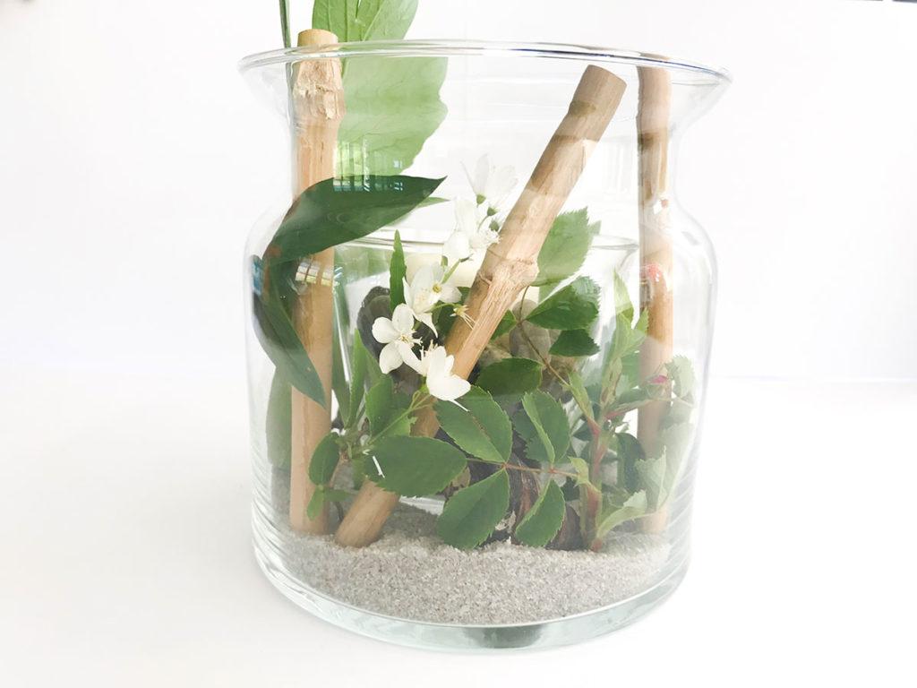 Sommer DIY | Windlicht | Vasen Windlicht | Deko für jeden Anlass | Tischdeko | Einfach und günstiges DIY