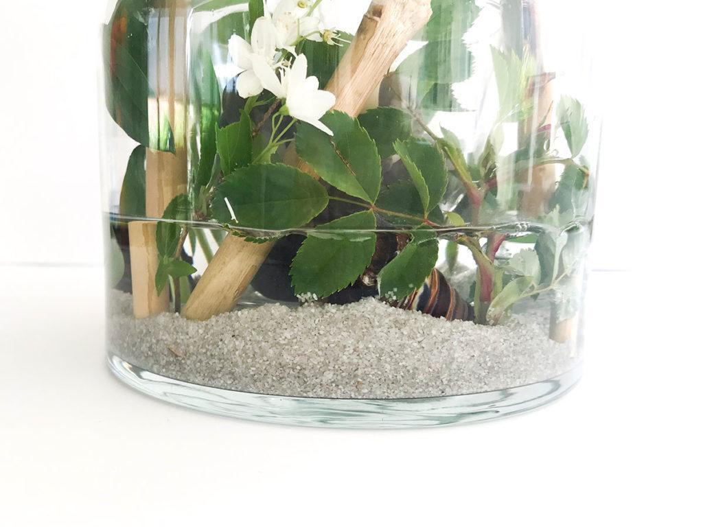 Sommer DIY   Vasen Windlicht   Windlicht   Tischdeko   Deko für jeden Anlass   günstig und einfaches DIY   Materialien aus dem Garten
