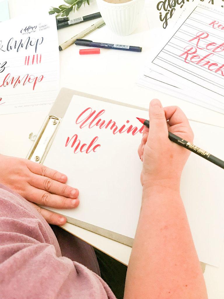 Handlettering | Handlettering Workshop | Workshop | Brushlettering | Lettering | Handlettering lernen | Kurs | Kurse in Winterthur | Kreative Kurse | Creafabric
