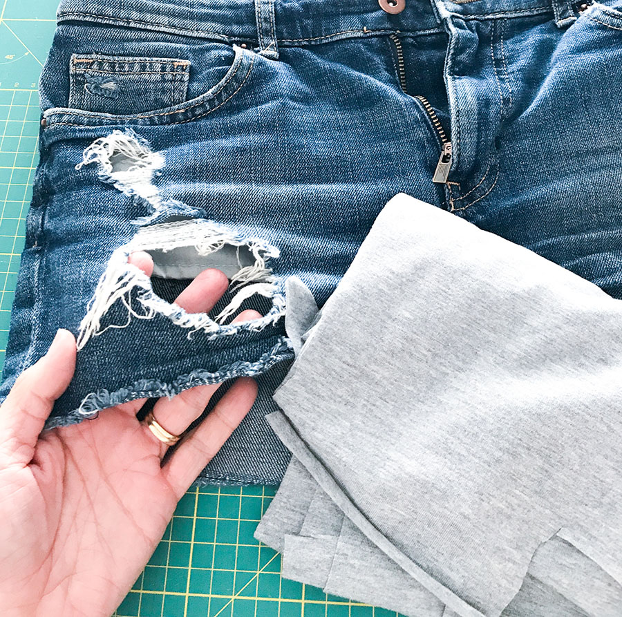 used look jeans auffrischen | used look jeans | jeans flicken | jeans diy | jeans | jeans nähen |
