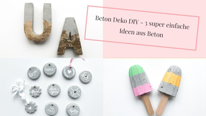 Beton Deko DIY U2013 3 Super Einfache Und Schnelle Ideen