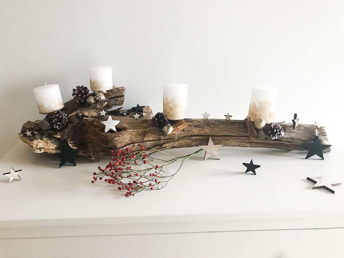 Adventskranz | Advent | 4 Kerzen | DIY | Adventskranz selber machen | Adventskranz basteln | Idee Adventskranz