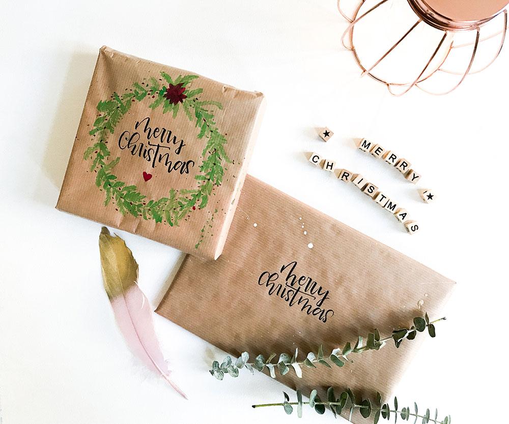 Geschenkpapier | selber machen | Geschenkpapier selbermachen | Geschenkpapier DIY | DIY | Pimp it up | Packpapier anmalen | Packpapier aquallieren | Geschenkpapier aufpimpen