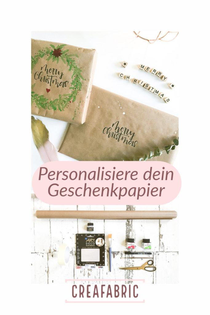 Pinterest | Geschenkpapier | Geschenkpapier selbermachen | DIY | gestalte dein Geschenkpapier | Geschenke | Weihnachtspapier