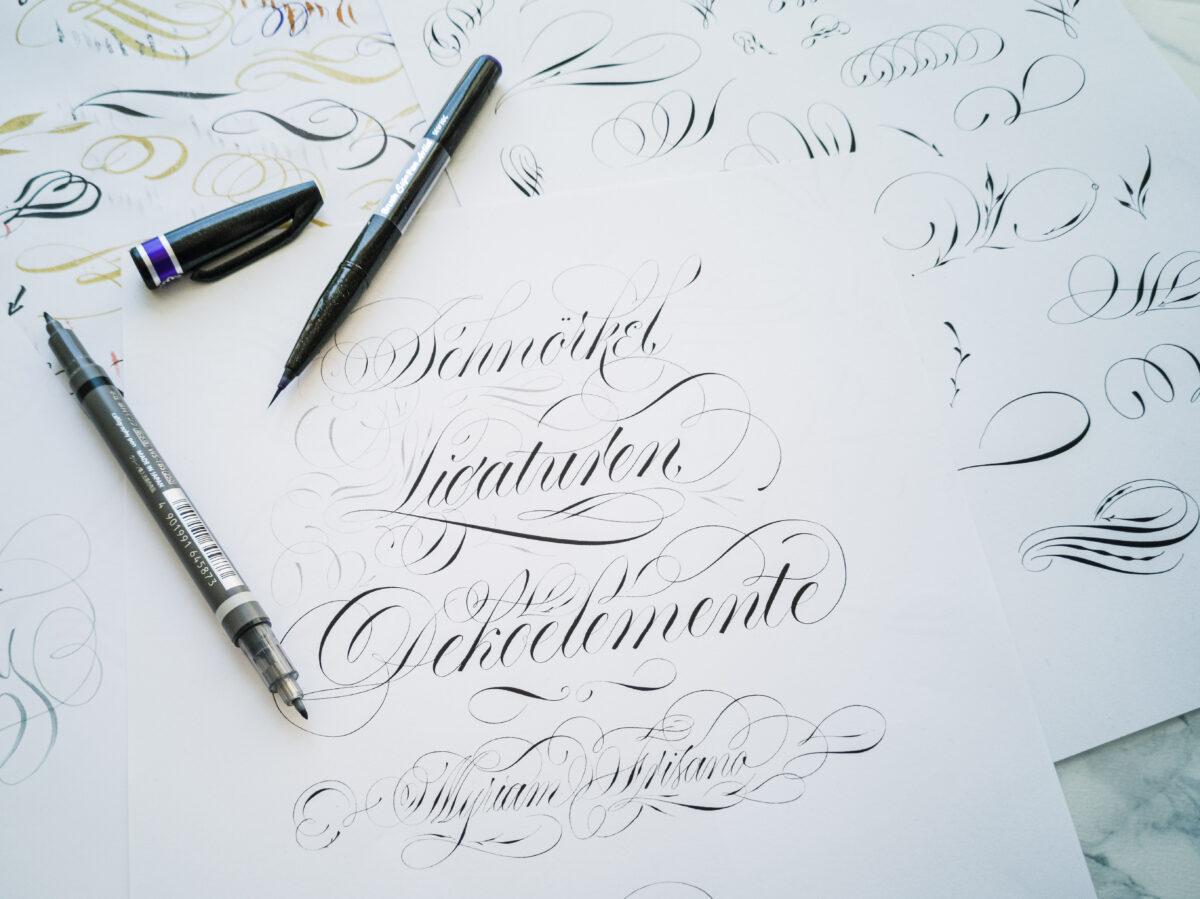 schnörkel | kalligrafie | moderne kalligrafie | schnörkel lernen | handlettering