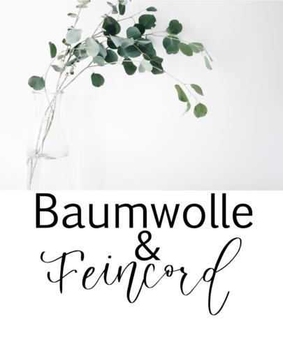 Baumwolle, Feincord