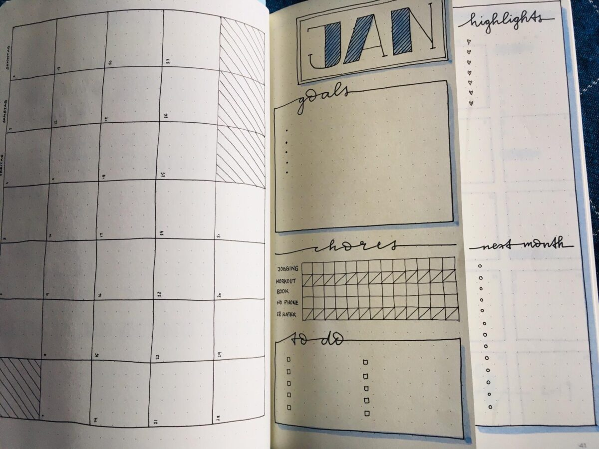 bullet journal, bujo, kinderkurs