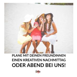 basteln mit freunden | freundinnnen | freundenachmittag | nachmittag mit freunden