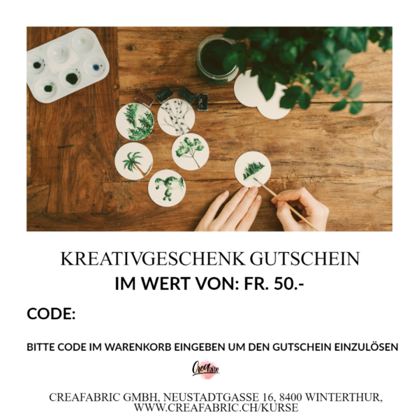 geschenk | gutschein | kreativ gutschein | kurse | workshops