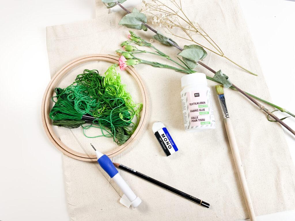 Material | punch needle | punch | sticken | embroidery | diy | selbermachen | basteln | stickerein | punch needle technik | punch needle für anfänger