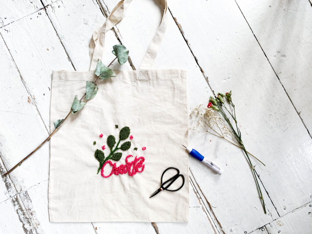 totebag | punch needle | punch needle anleitung | diy | tutorial | anleitung | diy anleitung | punch needeling