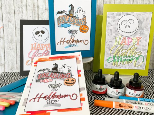 diy   do it yourself   selbermachen   halloween   halloween diy   halloween einladung   einladungskarte   halloween einladungskarte   basteln   kinderbasteln