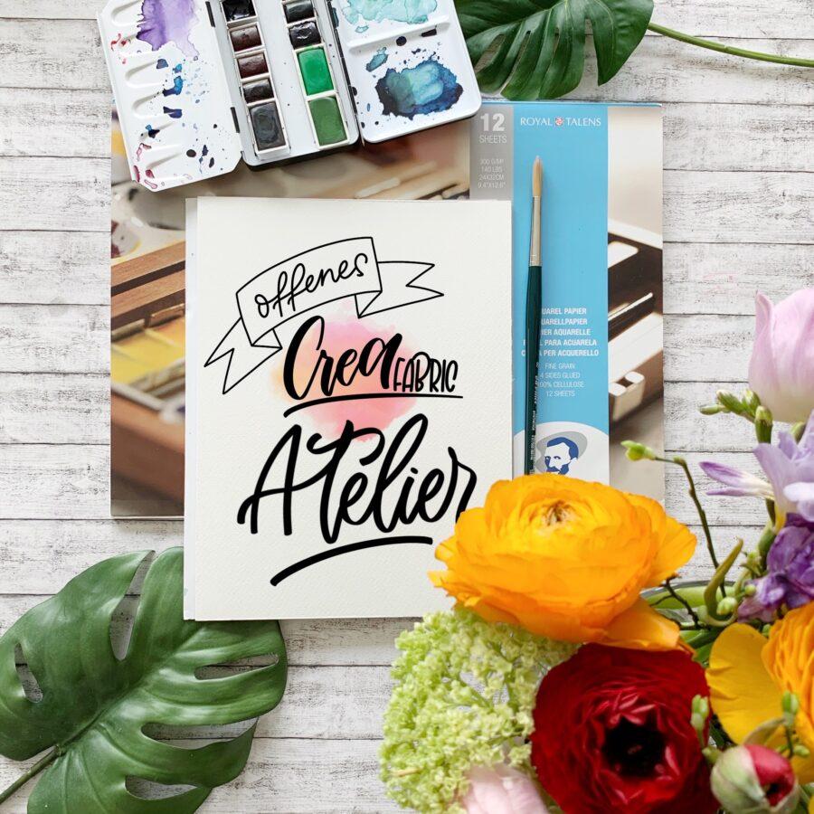 offenes atelier | handlettering | kurse | aquarell | aquarellmalerei | workshops