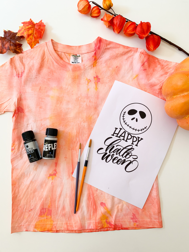 diy | do it yourself | selbermachen | halloween | halloween diy | halloween batikl | t-shirt | batik | basteln | kinderbasteln | t-shirt batik | t-shirt färben | färben | halloween party | gastgeber shirt