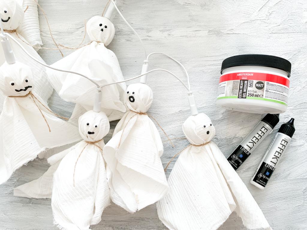diy | do it yourself | selbermachen | halloween | halloween diy | basteln | kinderbasteln | basteln für halloween | basteln mit kindern | gespenster basteln | gespenster diy | halloween diy | material für gespenster girlande