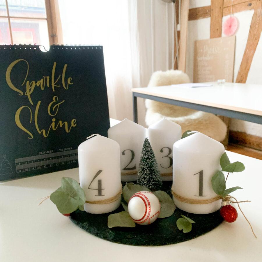 Advent | Adventskerzen | Adventskerze | Material | Adventskranz | Adventskranz DIY | DIY | Weihnachtsbasteln | Weihnachten | Vorbereitung | Serviettentechnik | Adventskranz mit DIY Kerzen