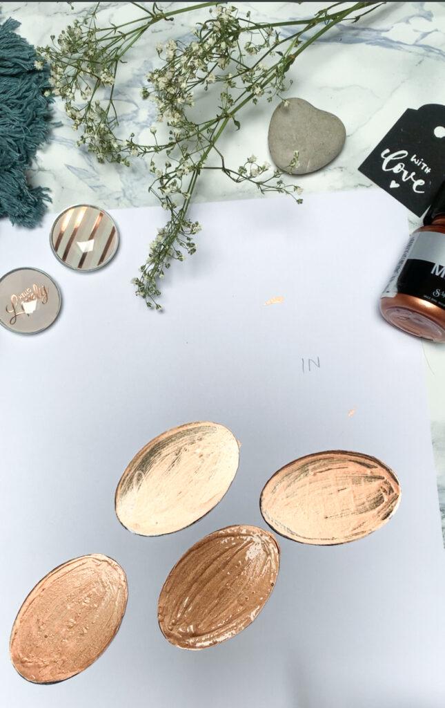 einzelne Schichten auftragen | in schichten arbeiten | acrylfarbe | basteln | diy