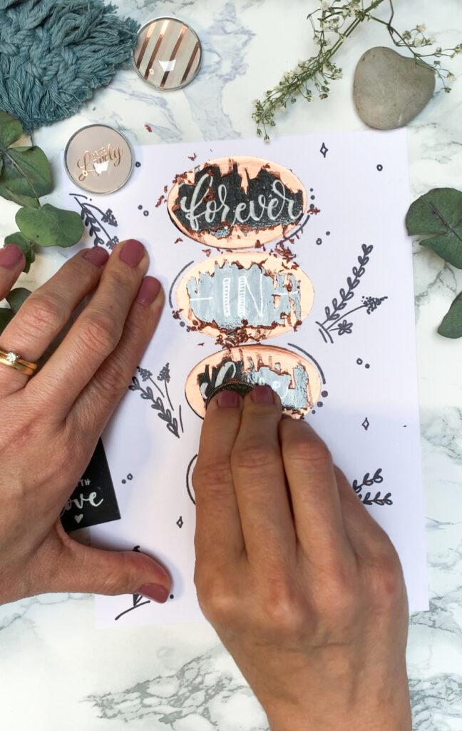Rubbelkarte selbstgemacht | diy | selbstgemacht | karten verschenken | valentinskarten | basteln